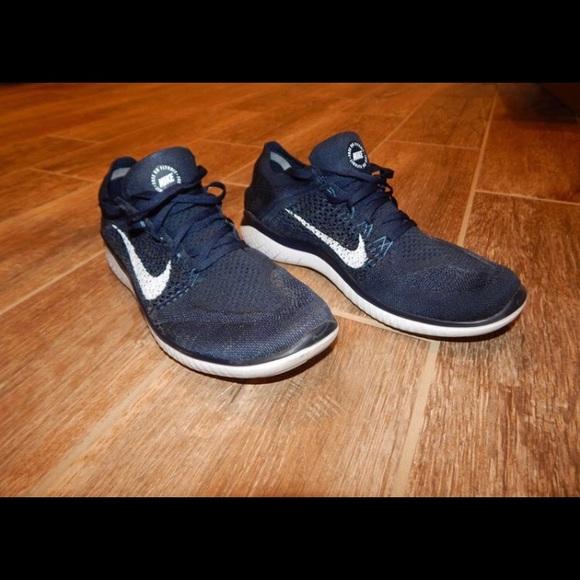online retailer f9a5e 1aaa5 Mens Nike Free Rn Flyknit 2018 - Navy